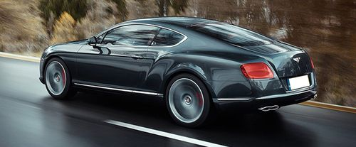 Rear Cross Side View of Bentley Continental
