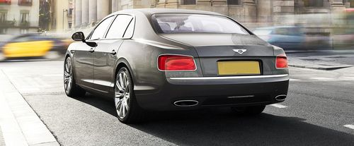 Rear Cross Side View of Bentley Flying Spur